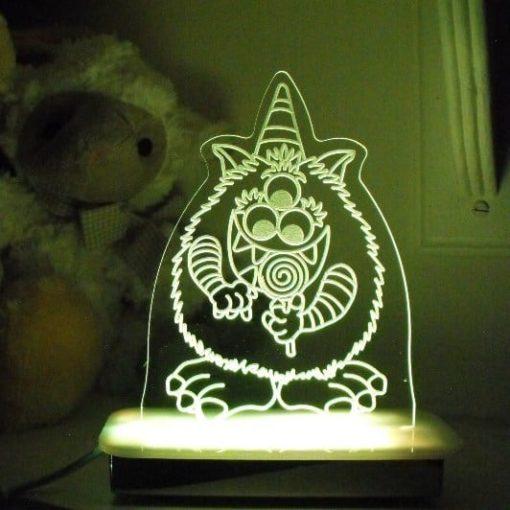 Candy Floss Monster Night Light