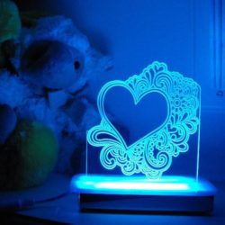Doodle Heart Night Light