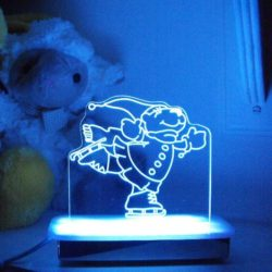 Skating Polar Bear Night Light