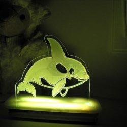 Whale Night Light - Wally