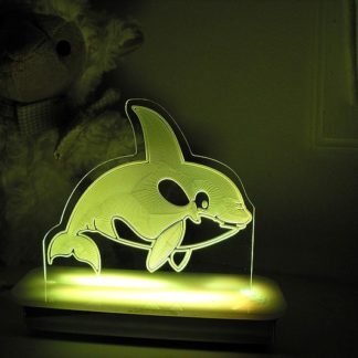 Whale Night Light - Wally