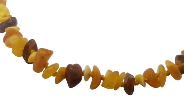 Amber Teething Necklace Multi The Wish List